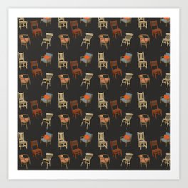 House of Chairs Art Print