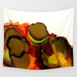 Peanut Butter Cup Ink Blooms Wall Tapestry