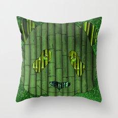 Panda & bamboo Throw Pillow