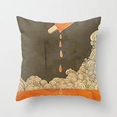 Orange Dreamsicle Throw Pillow