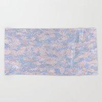 Rose Quartz and Serenity Blue 4644 Beach Towel