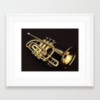 trumpet Framed Art Prints featuring trumpet by Ancello