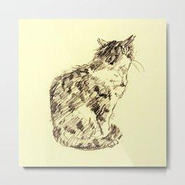 cat 010 Metal Print