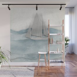 Floating Ship Wall Mural