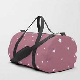 Pink and White Abstract Graduated Star Fade Duffle Bag