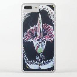 Find Your Bite Shark Jaws Scarabs and Corpse Flower Clear iPhone Case
