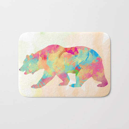Abstract Bear Bath Mat