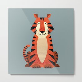 Whimsy Tiger Metal Print