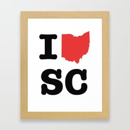 ohio loves SC Framed Art Print
