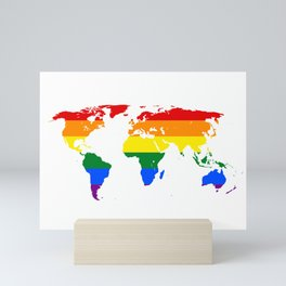 LGBT World Map Mini Art Print