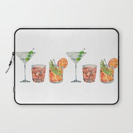 Classic Cocktails  – 1960s Watercolor Lineup Laptop Sleeve