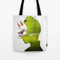 Fox Mask _side face Tote Bag