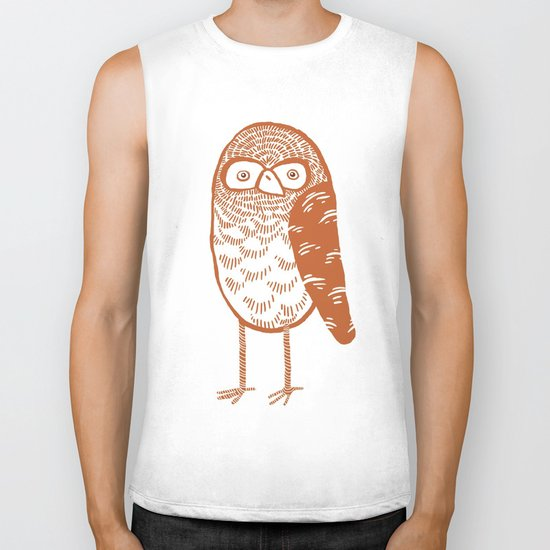 Neutral Owl Biker Tank