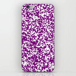 Small Spots - White and Purple Violet iPhone Skin