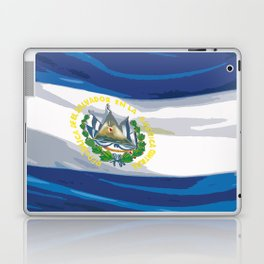 El Salvador Fancy Flag Laptop & iPad Skin