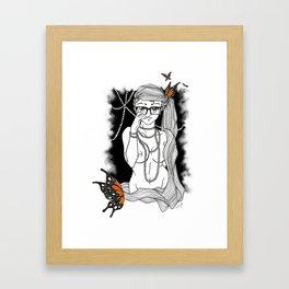 Pearls and Butterflies Framed Art Print