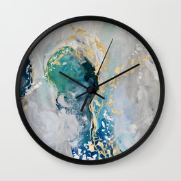 Peacock Dreams Wall Clock