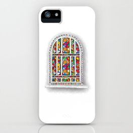 Watercolor stained glass window iPhone Case