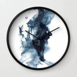 Indigo Depths No. 4 Wall Clock