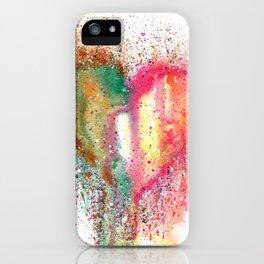 Heart Watercolor Art iPhone Case