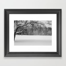 Winters Reach - A Snow Landscape Framed Art Print
