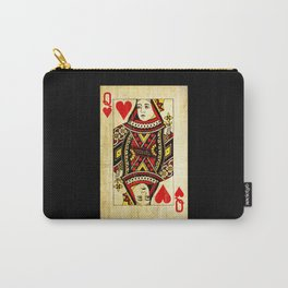 Queen Of Hearts Card Deck Old Carry-All Pouch
