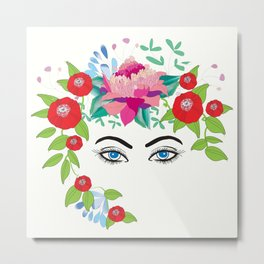 Eyes in the Garden Metal Print