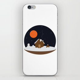 Cabin In The Snow iPhone Skin