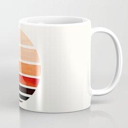 Burnt Sienna Mid Century Modern Minimalist Circle Round Photo Staggered Sunset Geometric Stripe Desi Coffee Mug