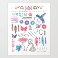 writing Art Prints featuring writing by Andrea van Dalen-Krens