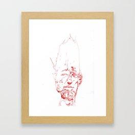 Facefractal Framed Art Print