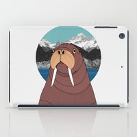 walrus iPad Cases featuring Walrus by Diana Hope