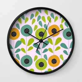 Cheery spring flowers Wall Clock