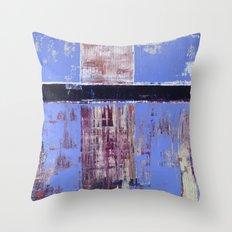Chagrin Cornflower Blue Abstract Painting Modern Art Throw Pillow