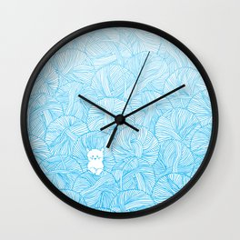 Yarn Ball Pit Wall Clock