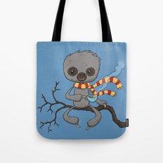 Sloth Drinking Tea Tote Bag