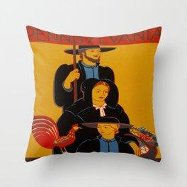 Vintage poster - Pennsylvania Throw Pillow