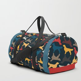 Golden Retriever Silhouettes - Colorful Pattern Duffle Bag