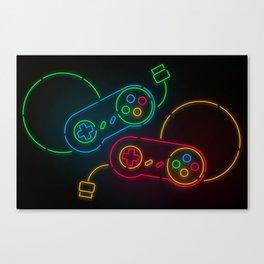 Neon Nostalgia Canvas Print