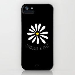 Straight & Fast (Plain Black) iPhone Case