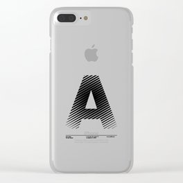 The Letter A Clear iPhone Case