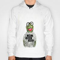 kermit Hoodies featuring Kermit The Frog by Doodalily Illustrations