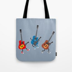 Dancing guitars Tote Bag