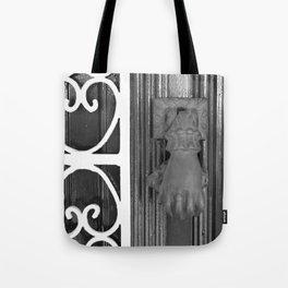 BLACK KNOCKER Tote Bag