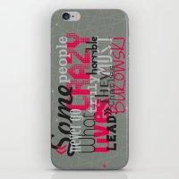 bukowski iPhone & iPod Skins featuring Bukowski by Vickn