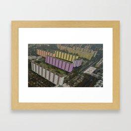 Colorful Block Buildings - Bekasmegyer - Budapest Framed Art Print