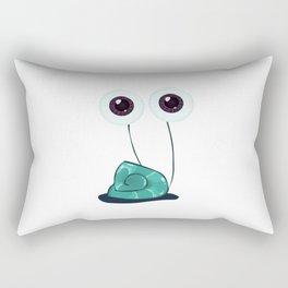 Happy Garden Snail Rectangular Pillow