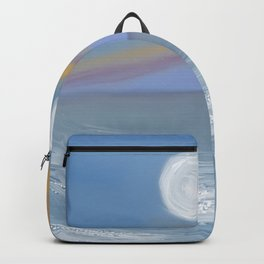 Moon in the evening sky Backpack