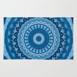 blue mandala 1 Rug