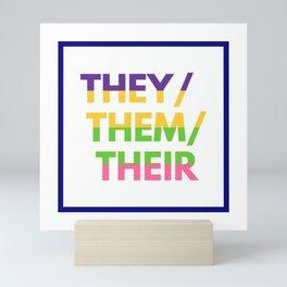 Sapphic Nonbinary Pride Mini Art Print